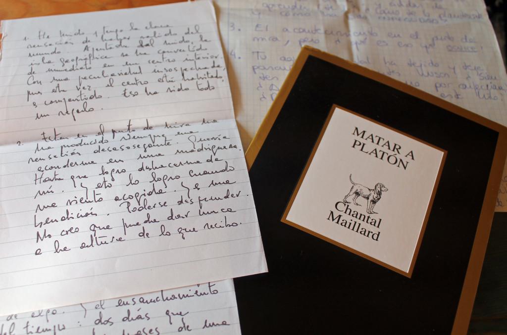 Entrevista Chantal Maillard Matar a Platón
