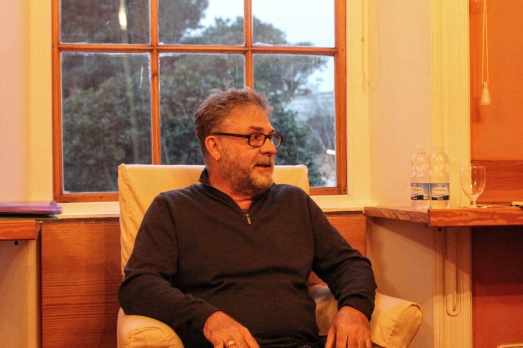 Visita de Jordi Odrí al taller del Ateneu